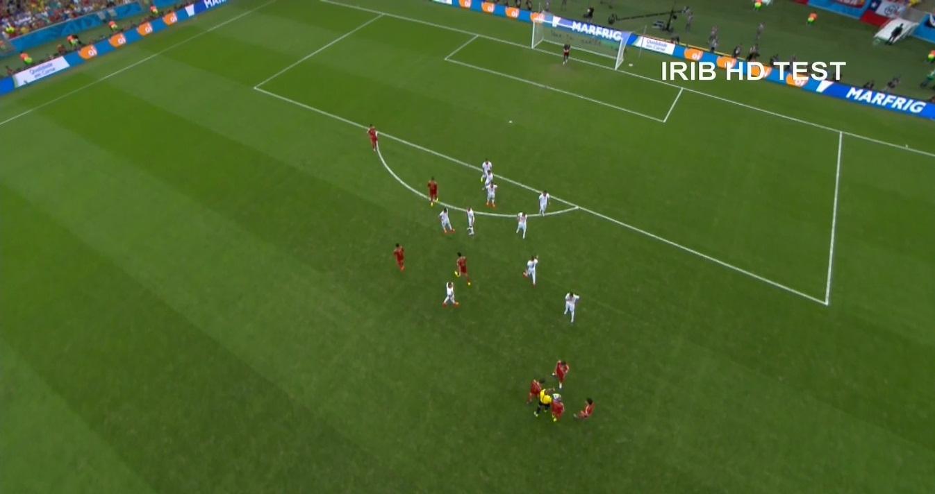 عکسی از شبکه IRIB HD Test در هنگام پخش جام جهانی (برای مشاهده کیفیت واقعی، روی عکس کلیک کنید)