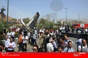 اولین تصاویر از سقوط هواپیما در تهران