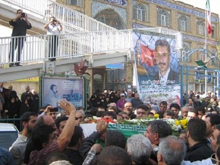 پیکر جانباز شهید ناصر غفاری تشییع شد