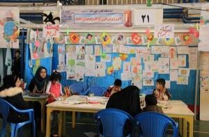 کارگاه های نقاشی و کلاژ در نمایشگاه کتاب دماوند