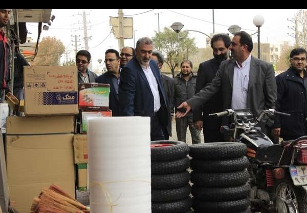 اجرای طرح جمع آوری سد معبر در دماوند