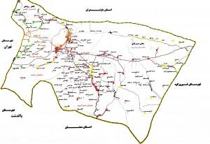 نقشه کامل شهرستان دماوند