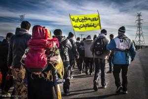 پیاده روی عزاداران و زائران امام رضا(ع)