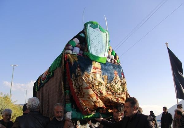مراسم نمادین حمل تابوت امام حسین (ع) در کیلان