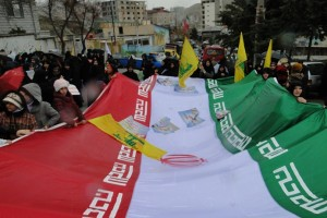 راهپیمایی با شکوه ۲۲ بهمن در شهر رودهن