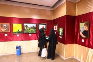 نمایشگاه نقاشی «رد پای قلم ۲» در دماوند گشایش یافت