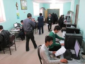 برگزاری آزمون رایانه نظری شهرستانهای تهران در دماوند