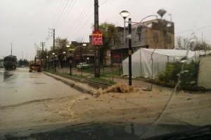 آبگرفتگی معابر و خیابانهای دماوند/ تصاویر و فیلم