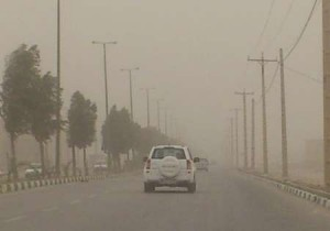 وزش باد شدید همراه با گرد و غبار در شهرستان دماوند