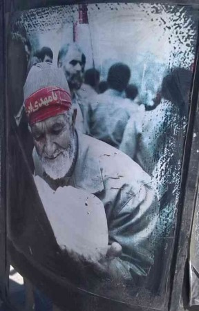 عکسی زیبا از روز اعزام یک رزمنده سالخورده