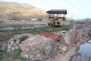 تخریب ساخت و ساز غیر مجاز در منطقه مشاء دماوند