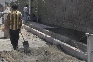 اجرای عملیات پیاده روسازی معابر شهر دماوند