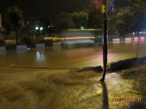 آبگرفتگی معابر دماوند بر اثر باران شدید/تصاویر+فیلم