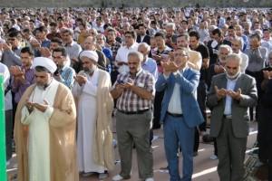 نماز با شکوه عید فطر در شهر رودهن اقامه شد+تصاویر