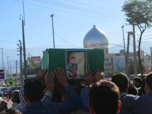 تشییع پیکر دومین شهید افغان مدافع حرم در دماوند+فیلم و تصاویر