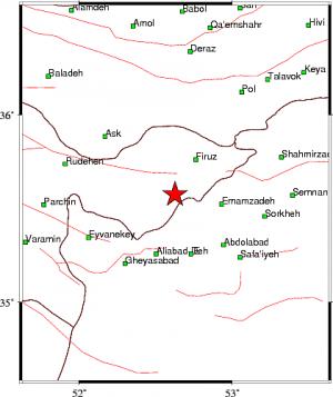 زلزله ۴٫۶ ریشتری دماوند و فیروزکوه را لرزاند