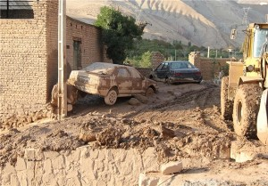 خسارات ناشی از وقوع سیل اخیر در روستای ویرانه+تصاویر