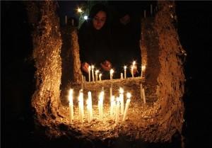آیین عزاداری شام غریبان حضرت اباعبدالله (ع) در آبسرد