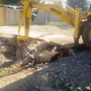 تخریب ۳ دهنه پل غیرمجاز در حریم رودخانه جمع آبرود وادان