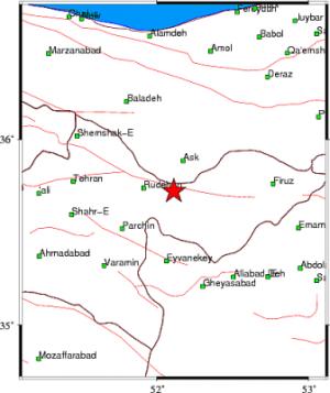 زلزله ۲٫۵ ریشتری سه بار دماوند را لرزاند