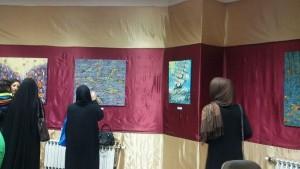 نمایشگاه نقاشی رویش در دماوند افتتاح شد