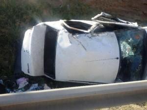 واژگونی خودرو در دماوند، جان یک نفر را گرفت + تصاویر