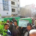 تشییع و تدفین پیکر ۲ شهید افغانی مدافع حرم در شهر آبسرد+تصاویر