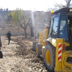 آزادسازی ۶۰۰ مترمربع از اراضی بستر و حریم مسیل در روستای چناران رودهن