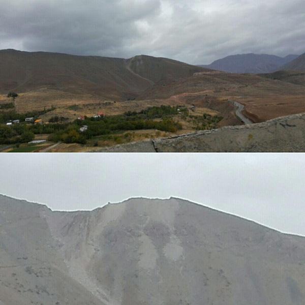 بولدوزر در بالای کوه مشاء