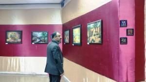 نمایشگاه نقاشی دنیای رنگ در دماوند+تصاویر