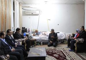 دیدار مسئولان با ۴ خانواده شهید و جانباز در دماوند+تصاویر