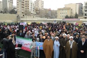 راهپیمایی باشکوه یوم الله ۲۲ بهمن در رودهن+تصاویر