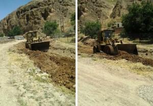 اجرای عملیات لایروبی رودخانه جمع آبرود در روستای وادان دماوند با اعتباری بالغبر ۵ میلیون تومان