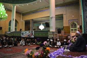 محفل انس با قرآن کریم با حضور قاری مصری در مسجد جامع دماوند+تصاویر