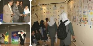 هفتمین نمایشگاه نقاشی شرکت آبفای شرق استان تهران در رودهن گشایش یافت