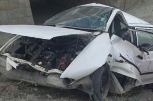 خواب آلودگی راننده پراید در جاده کیلان ۵ سرنشین خود را راهی بیمارستان کرد