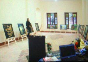 افتتاح نمایشگاه نقاشی نقشفام با سبک مدرن در شهر رودهن