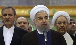 روحانی: توانستیم دیوارهای تحریم را فرو بریزیم