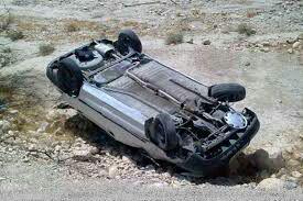 واژگونی یک دستگاه خودرو سواری در دوراهی شهر آبسرد ۴ مجروح برجای گذاشت