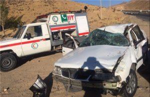 یک کشته و چهار مجروح به علت واژگونی سواری پژو در محور فیروزکوه-دماوند+تصاویر