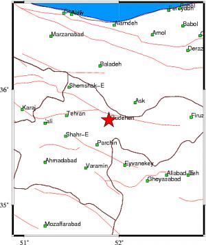 زلزلهای به بزرگی ۲ ریشتر شهر رودهن را لرزاند
