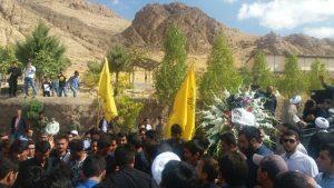 تشییع و خاکسپاری پیکر بیست و یکمین شهید مدافع حرم در شهرستان دماوند