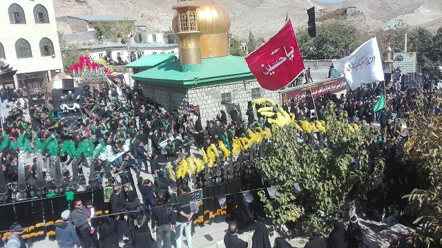 بزرگترین اجتماع عظیم عزاداران عاشورایی در روستای زیارت کیلان+تصاویر