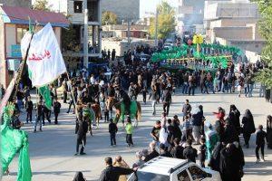 آیین باشکوه عزاداری تاسوعای حسینی در شهر آبسرد+تصاویر
