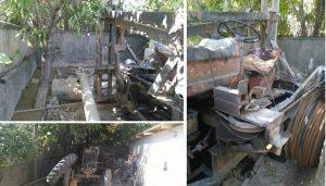 توقیف یک دستگاه حفاری غیرمجاز تراکتوری در اراضی شهر آبسرد