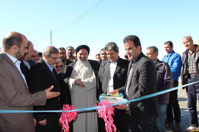 چهار پروژه عمرانی در شهر آبسرد افتتاح و کلنگزنی شد+تصاویر