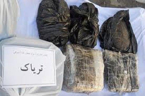 کشف ۳ کیلوگرم تریاک و دستگیری ۲ نفر در شهر آبسرد