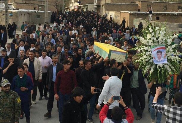پیکر بیست و ششمین شهید مدافع حرم در شهرستان دماوند تشییع و خاکسپاری شد