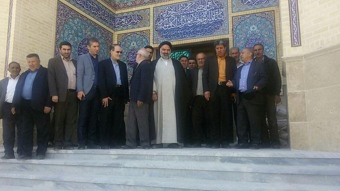 مسجد روستای اهران شهر آبسرد افتتاح و مورد بهرهبرداری قرار گرفت+تصاویر