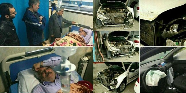 نماینده مردم دماوند و فیروزکوه در مجلس دچار سانحه رانندگی شد/ میرزایینیکو از ناحیه قفسه سینه و ستون فقرات آسیب دید